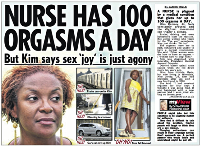 The Sun's story about Kim Ramsey