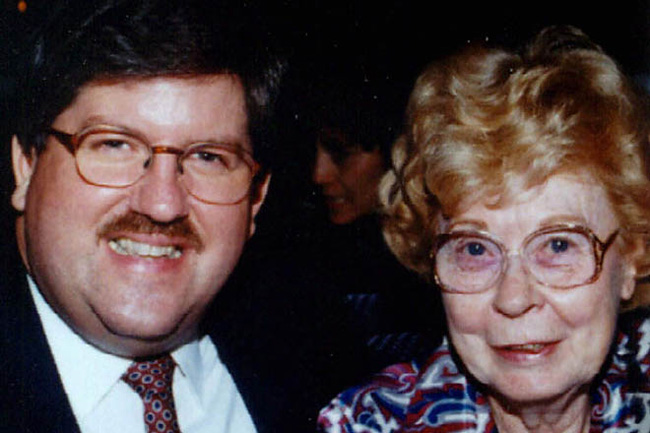 Photo provided by the Panola County Sheriff's Department of Marjorie Nugent, right, and her former escort Bernie Tiede.
