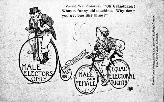 Suffrage-League-propaganda-from-1907-Museum-of-London-bicycle-face