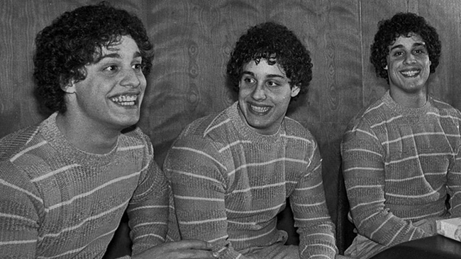 Tres desconocidos idénticos - Three Identical Strangers - trillizos Long Island - triplets