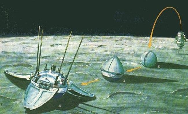 sonda-luna-9-alunizaje-enero-1966-espacio.URSS-Luna