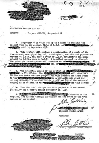 documento desclasificado-MK Ultra-CIA-secreto-control mental-drogas-comisión Rockefeller